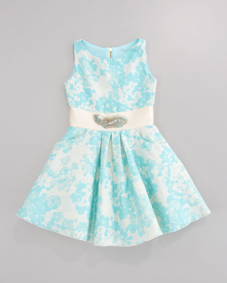 Brocade Pocket Swing Dress, Sizes 2-6