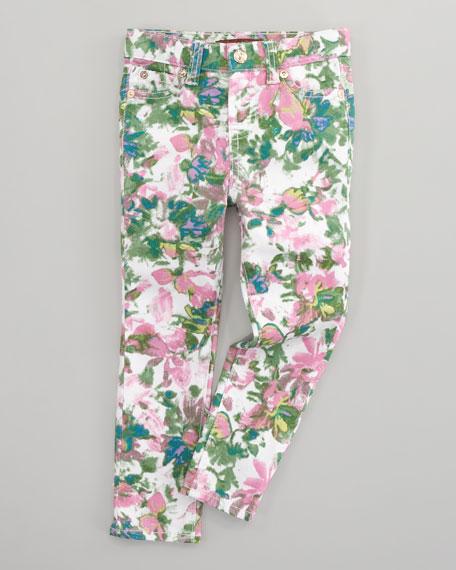 The Skinny Kauai Floral-Print Jeans, Sizes 4-6X
