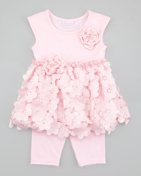 Tiny Trousseau Pink Iicy Tunic & Leggings