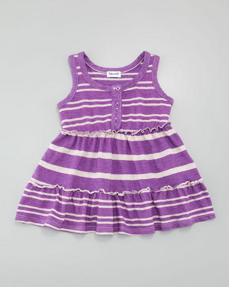 Sugarcane Striped Tank Dress, Jellyfish, 3-24 months