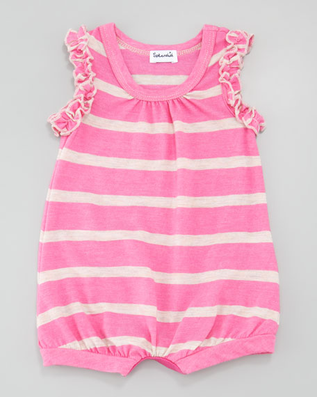 Sugarcane Bubble Playsuit, Parfait Pink, 3-12 months