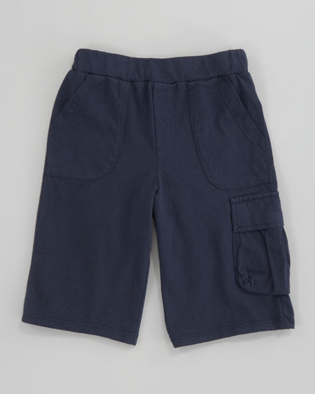 Jersey Cargo Shorts, Navy