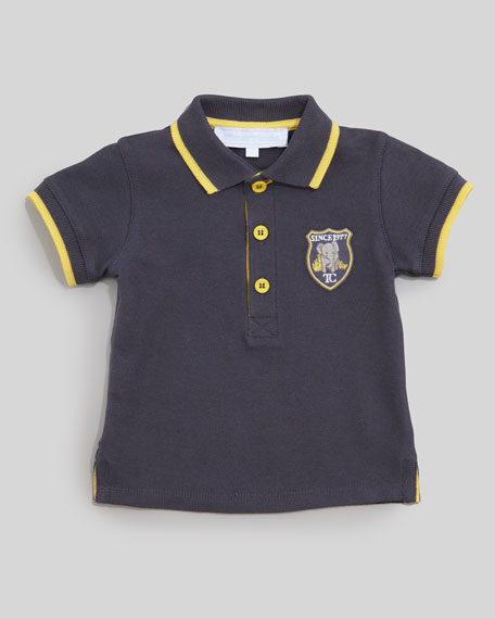 Theo Pique Polo Shirt, Blue de Chin