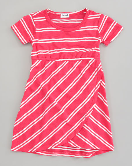 Double French-Stripe Tulip Dress