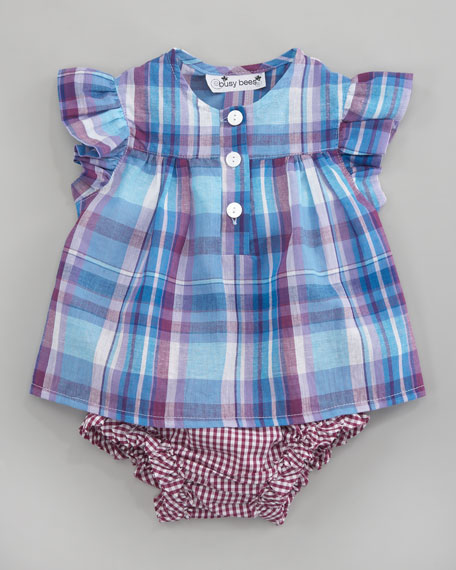 Evie Plaid Ruffle Top