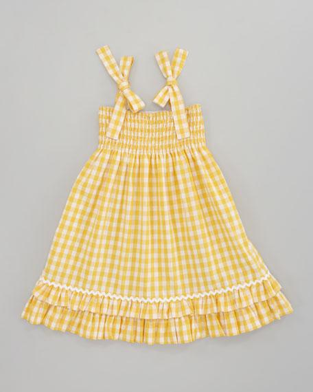 Sara Madras Plaid Dress, Yellow