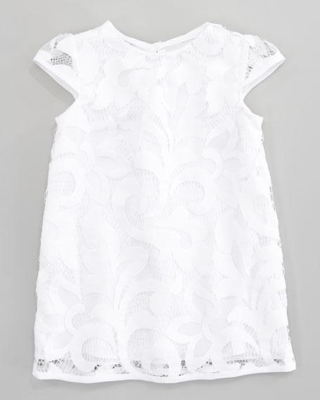 Magnolia Daisy Cap Sleeve Lace Dress, Sizes 2-6