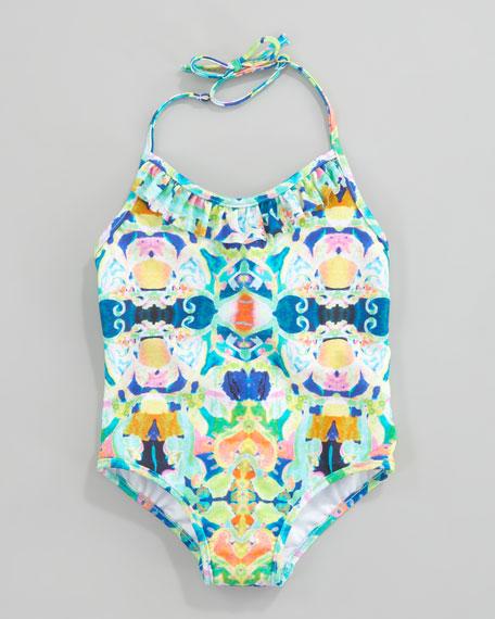 Kaleidoscope Print One-Piece Swimsuit, 8-10