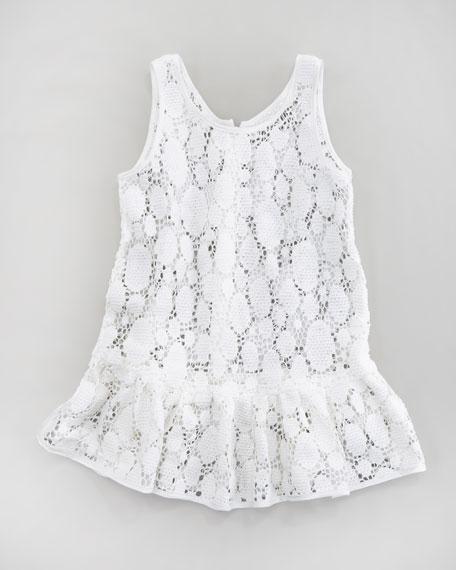 Reese Dot Crochet Lace Tunic, Sizes 8-10