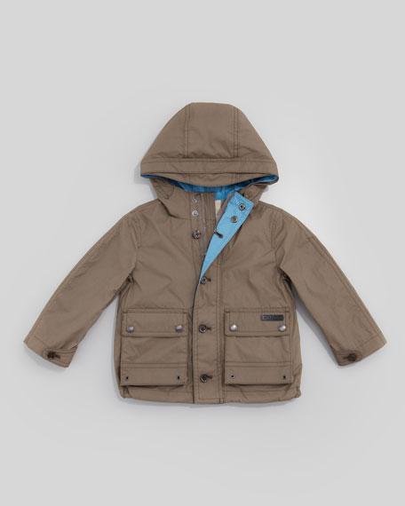 Lightweight Rain Jacket, Pale Birch Gray, Kid's Sizes