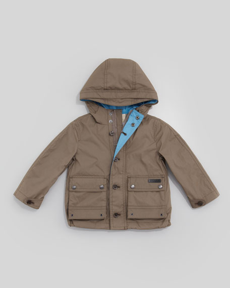 Lightweight Rain Jacket, Pale Birch Gray
