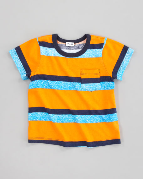 Asher Striped Jersey Tee