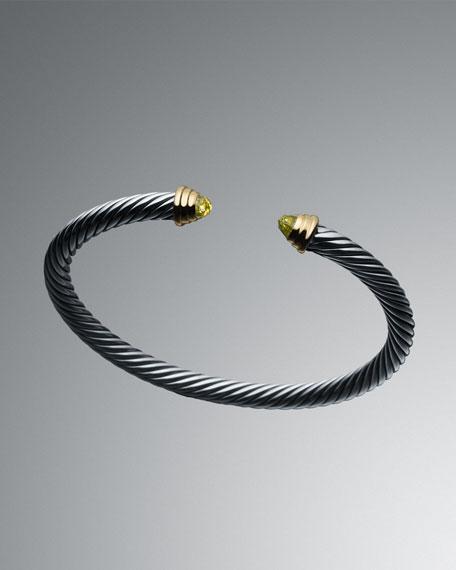 August Birthstone Cable Kids Bracelet