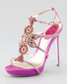 Rene Caovilla Crystal-Beaded Sandal