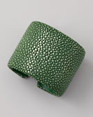 Nest Stingray Cuff, Green