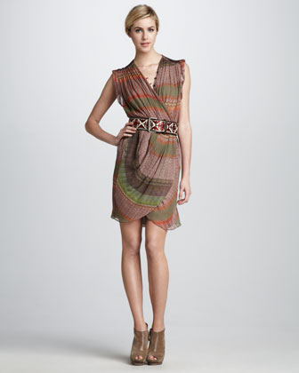 Of Two Minds Darby Printed Dress & Aria Printed Belt - Neiman Marcus