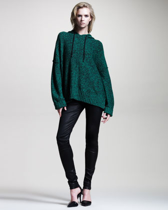 Heathered Oversize Hoodie from neimanmarcus.com