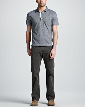 Pensacola Jersey Polo & Five-Pocket Pants