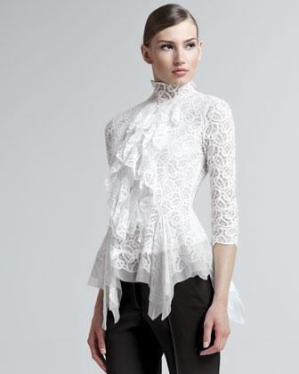 Блузка С Жабо Фото