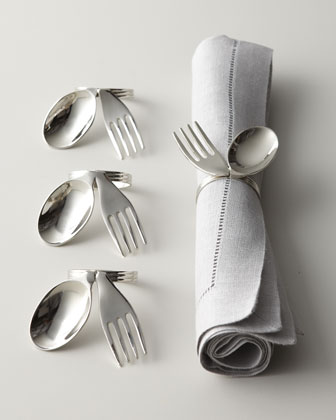 Spoon & Fork Napkin Rings from Neiman Marcus