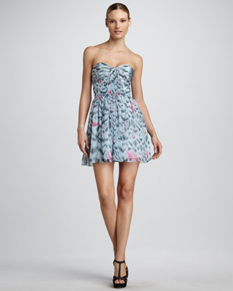 Erin Fetherston Strapless Shirred-Bust Dress - Neiman Marcus :  mini dress sassy dress