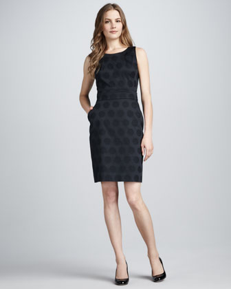 kate spade new york alme sleeveless dot jacquard dress Neiman Marcus from neimanmarcus.com