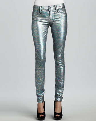 Coe Mystic Moon Swirl Metallic Leggings