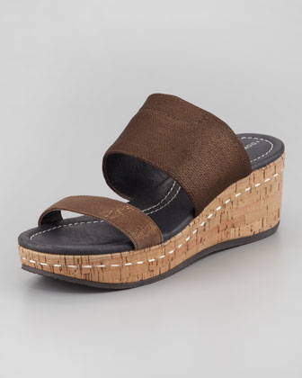 Shera Slip-On Wedge, Bronze