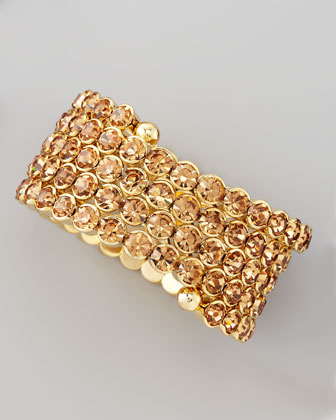 Crystal Spiral Bracelet, Golden