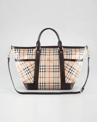 Burberry Check Diaper Tote Bag - Neiman Marcus