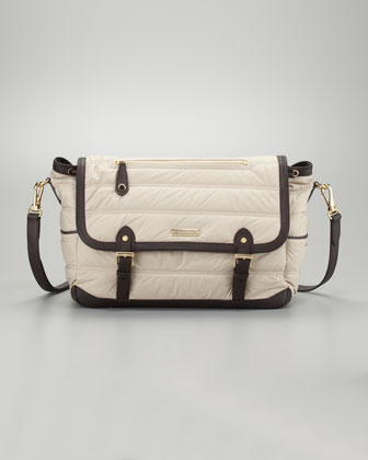Burberry Messenger Diaper Bag, Trench - Neiman Marcus
