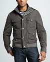 Burberry Brit Four-Pocket Field Jacket, Dark Gray
