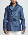 Burberry London Short Gabardine Trenchcoat