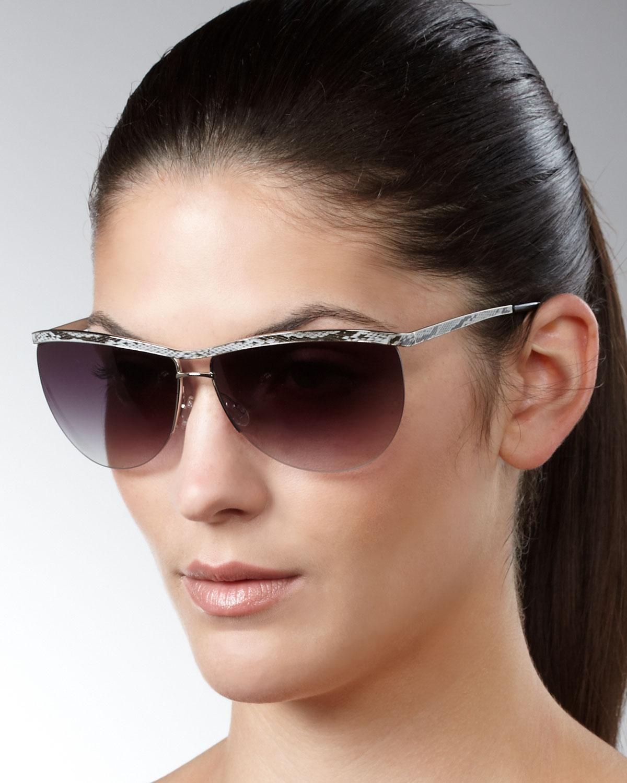 a059d24e21 D080E Barton Perreira Chanteuse Snake Print Sunglasses