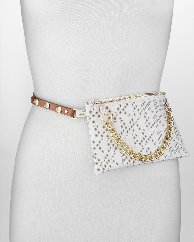 3bbf5537da10 MICHAEL Michael Kors Logo-Embossed Belt Bag With Chain Detail ...