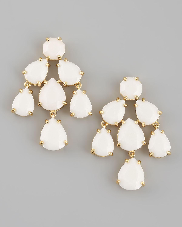 kate spade new york chandelier earrings, white