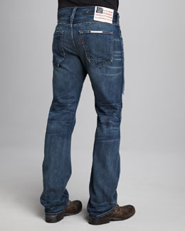 True Religion Bobby Flag-Patch Jeans