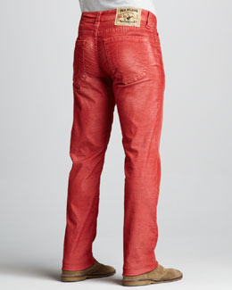 True Religion Geno Slim Corduroy Pants, Tomato