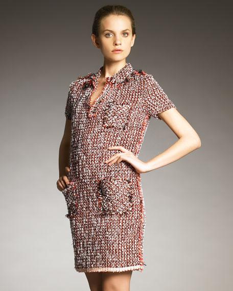 Tweed Polo Dress