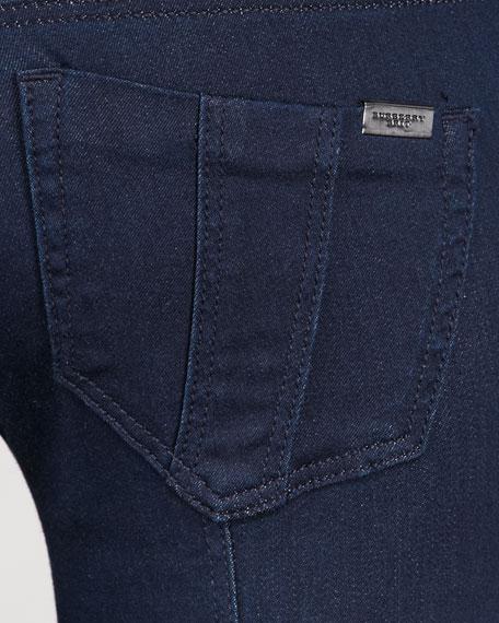 Ankle-Length Indigo Stretch Jeans