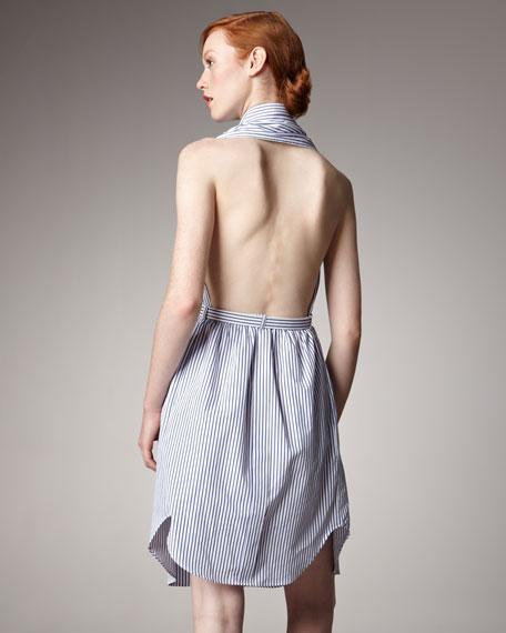 Open Cape-Back Shirtdress