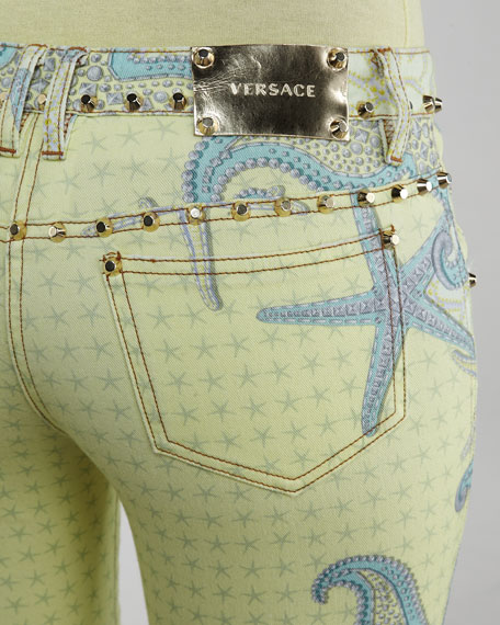 Starfish-Print Jeans