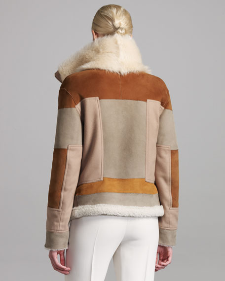 Reversible Patchwork Fur Jacket