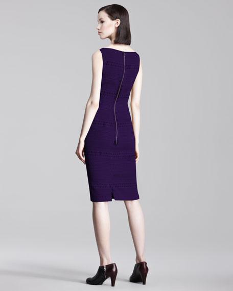Pintucked Knit Dress