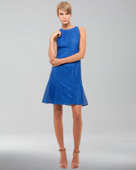 Sleeveless Lace Dress, Royal