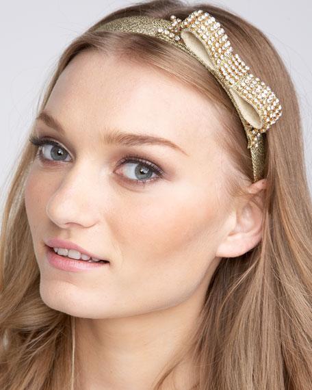 Rhinestone-Bow Headband