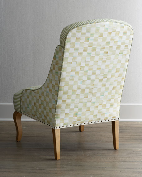 "Parchment Check ""Underpinnings"" Dining Chair"