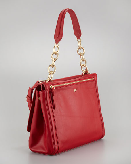 New Harper Charlotte Leather Bag, Red