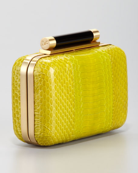 Tonda Snakeskin Clutch Bag