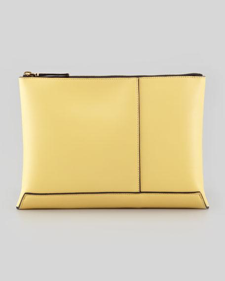 Flat Portfolio Removable-Pocket Bag, Yellow/Rose